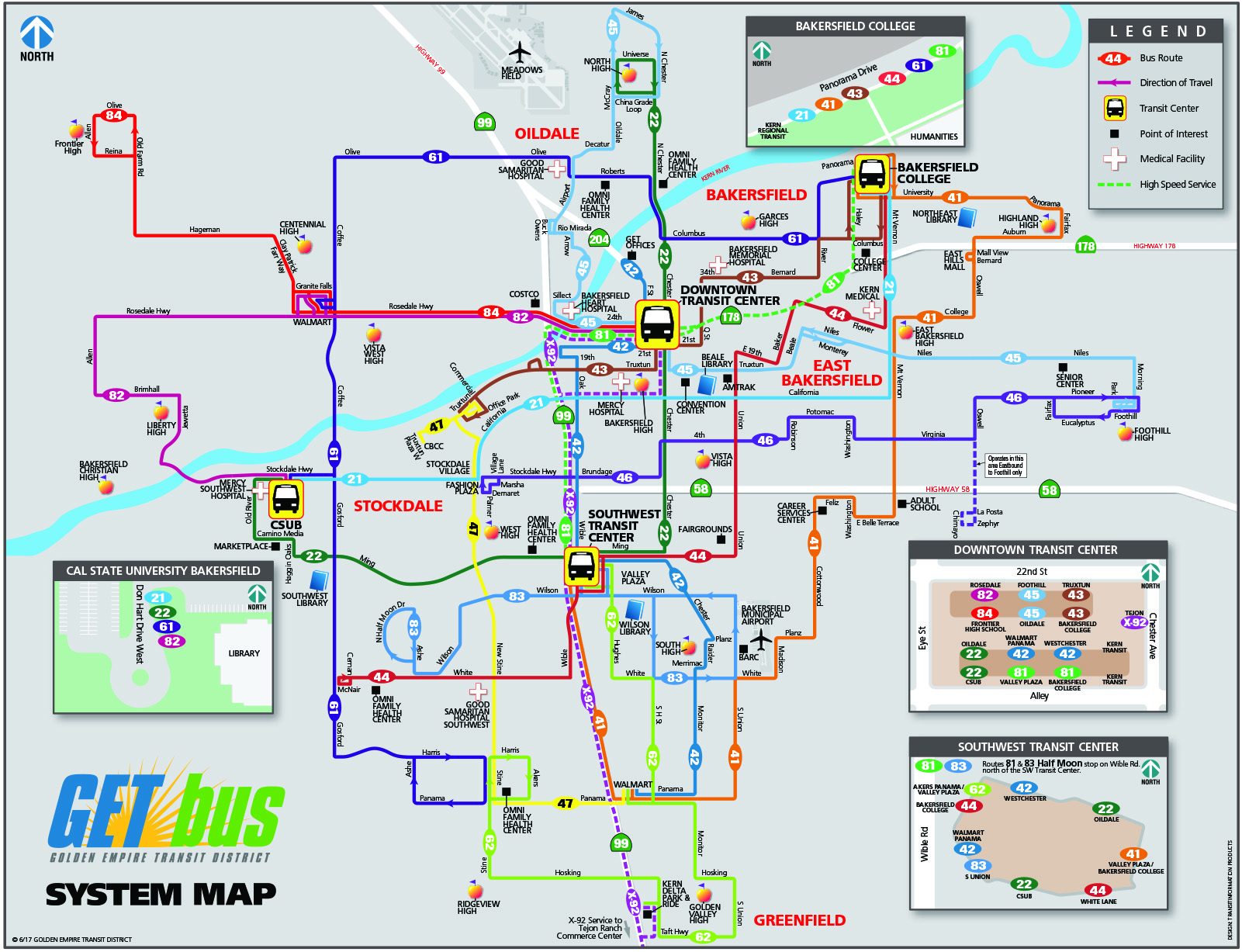 Maps & Timetables - Golden Empire Transit District San Go Train Map on