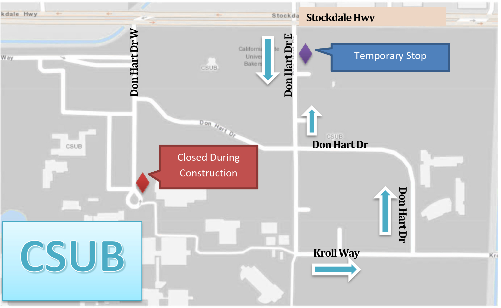 Temporary GET Bus Stop at CSUB