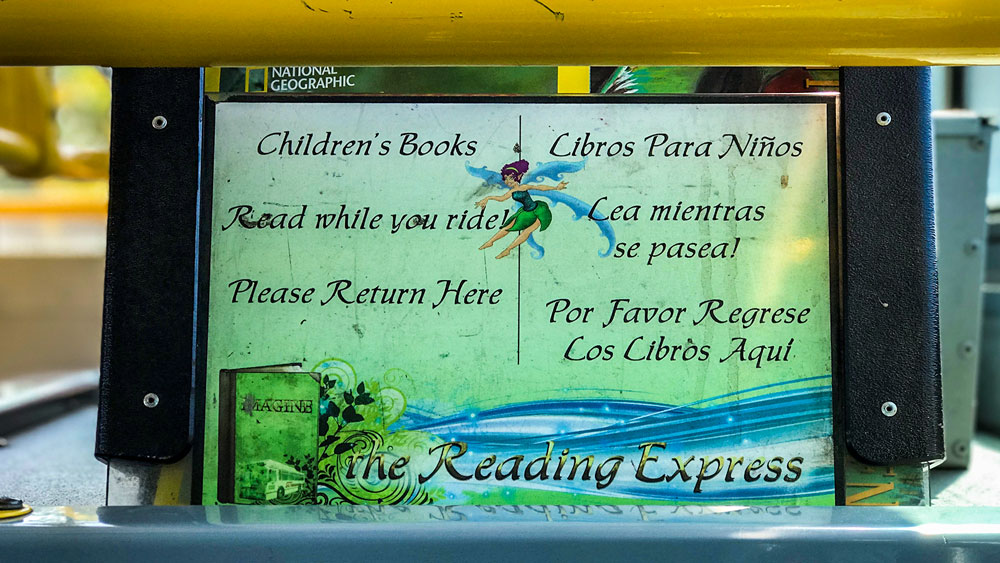 Golden Empire Transit Reading Express Book Drive