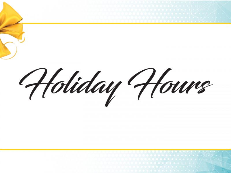 GET closed for Christmas and Holiday Schedule for New Year's Day